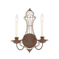 Aplica LAILA, bronz rustic, H:38.1cm, 2 becuri