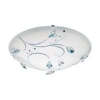 Plafoniera LED Sorrenta, Alb-Cristal, 16W, 1500lm, D:31,5cm
