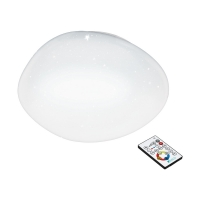 Plafoniera LED SILERAS, efect cristal, D:45cm, 2500lm, alb reglabil 2700K-4000K-6500K
