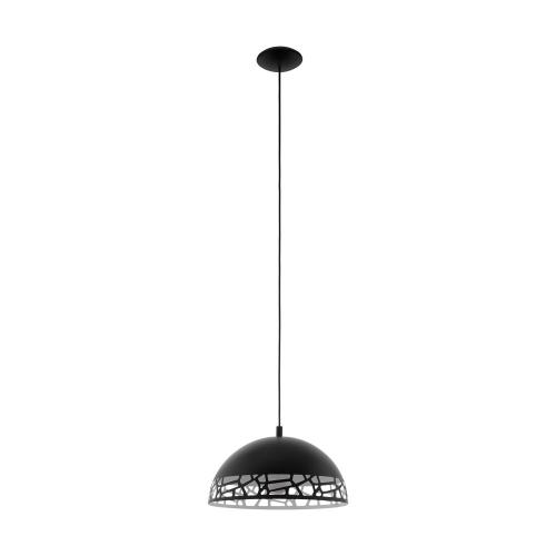 Pendul sufragerie SAVIGNANO, D:38cm, negru, decupat