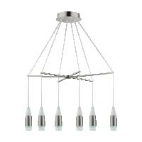 Suspensie LED bucatarie SANTIGA, 39326, 12x3.2W, 4440lm, 3000K, nichel/alb
