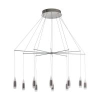 Suspensie LED living SANTIGA, 39327, 22x3.2W, 7800lm, 3000K, nichel/alb
