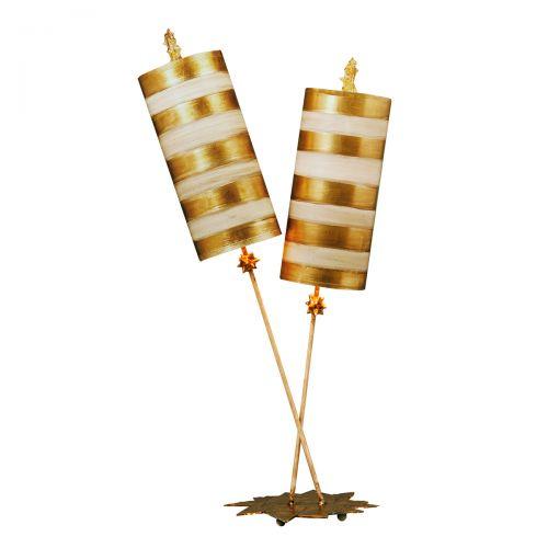 Veioza NETTLE LUXE, auriu, H:101.6cm, 2 becuri