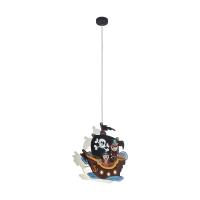 Pendul camera copii cu motiv pirat SAN CARLO, 2xE27