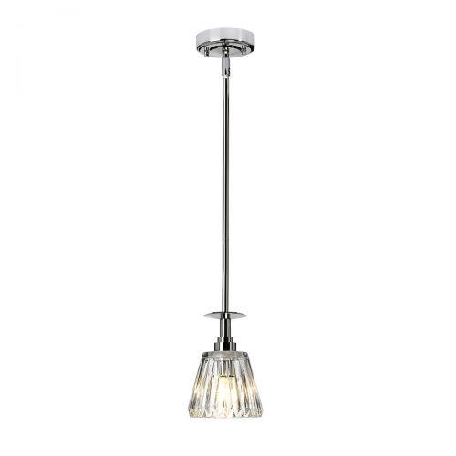 Pendul LED baie AGATHA, crom, H:130.5cm, IP44