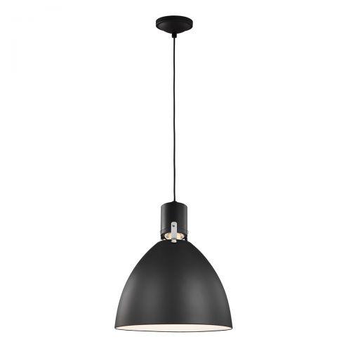 Pendul LED BRYNNE Medium, negru, D:36cm, H:53-507cm