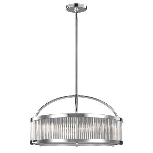 Candelabru LED baie PAULSON, IP44, D:54cm, H:40-176cm, 6xG9, crom