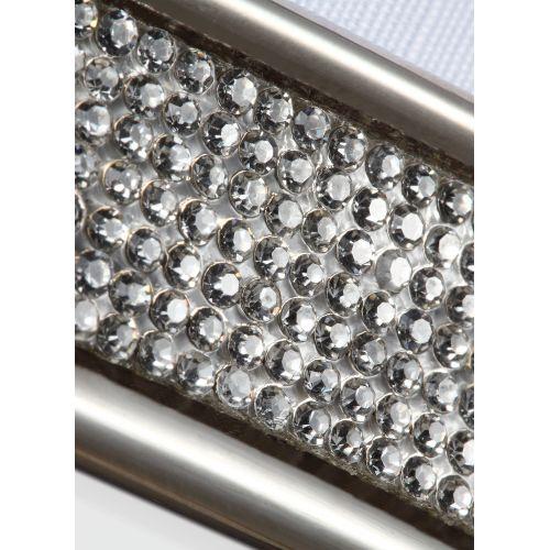 Lustra PAVE cu cristale incrustate, 3xE27, D:51cm, H:48-139cm, nichel