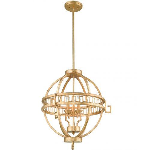 Pendul LEMURIA, auriu, H:158.1cm, 3 becuri