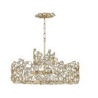 Candelabru opulent cristal ANYA, auriu, H:53-353cm, 6 becuri