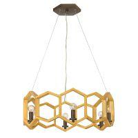 Lustra design hexagonal MOXIE, auriu, H:31-328cm, 6 becuri