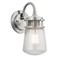 Aplica LYNDON Small, argintiu, H:28.8cm, IP44