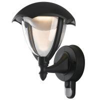 Aplica LED MEGAN cu senzor, negru, H:29cm, 12W