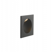 Spot LED incastrabil ONYX, negru, L:9cm, IP54, 2W, 4000K