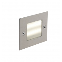 Spot LED incastrat BOLT, nichel, L:7,1cm, IP54, 3W, 4000K