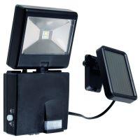 Proiector LED COSMO cu senzor si panou solar, negru, H:18,5cm, IP44, 2x0.5W