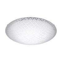 Plafoniera LED living Riconto 1, Alb-Transparent, Ø395, 16W, 1500lm