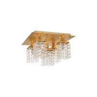 Plafoniera bucatarie cristal aurie PYTON GOLD, L:29cm