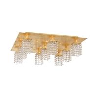 Plafoniera living cristal aurie PYTON GOLD, L:57cm
