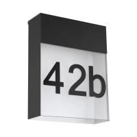Numar casa LED PONSO, 4.8W, 450lm, 3000K, negru