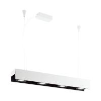 Suspensie office LED alb-negru BADALONA, 3000K alb cald