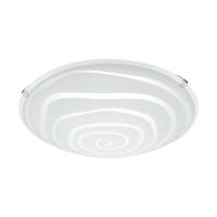 Plafoniera LED Borgo 2, 96082, Satin-Transparent, Ø245, 11W, 950lm