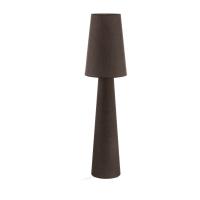 Lampadar sufragerie textil maro 2xE27 CARPARA, H:143cm