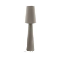 Lampadar birou textil taupe 2xE27 CARPARA, H:143cm