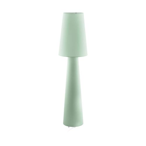 Lampadar dormitor textil verde deschis 2xE27 CARPARA, H:143cm