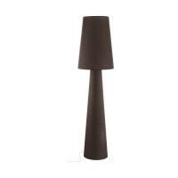 Lampadar sufragerie textil maro 2xE27 CARPARA, H:173cm