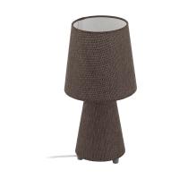 Veioza sufragerie textil maro 2xE27 CARPARA, H:34cm