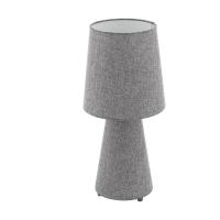 Veioza living textil gri 2xE27 CARPARA, H:47cm