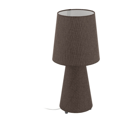 Veioza sufragerie textil maro 2xE27 CARPARA, H:47cm