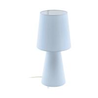 Veioza living textil albastru deschis 2xE27 CARPARA, H:47cm