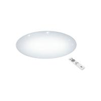 Plafoniera LED cu telecomanda Ø760 alba cu efect cristal GIRON-S, 5800 lumeni