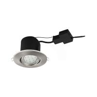 Spot LED Peneto 96861, 1x5W GU10-LED, 400lm, 3000K, nichel mat