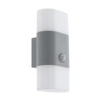Lampa LED senzor miscare exterior EGLO Favria 1, 97313, 2x5,5W, 1300 lm, argintiu