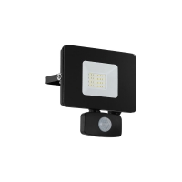 Proiector LED cu senzor EGLO Faedo 3, 97461, 20W, 1800 lm, negru, 5000K