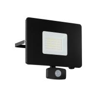 Proiector LED cu senzor EGLO Faedo 3, 97463, 50W, 4800 lm, negru, 5000K