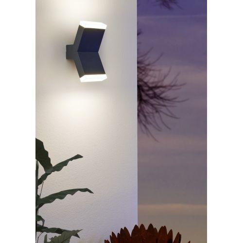 Aplica LED exterior EGLO Cantzo 97154, 2x4W, 1100 lm, 3000K, antracit