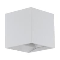 Spot LED exterior EGLO Calpino 97241, 2x3.3W, 680 lm, 3000K, alb, IP54