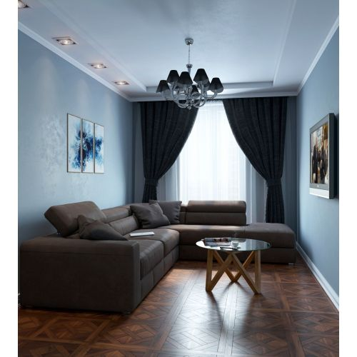 Lustra living moderna Maytoni Boscage, nichel mat, 8xE14 40W