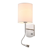 Aplica LED citit moderna Maytoni Bergamo, crom lucios, E27 60W