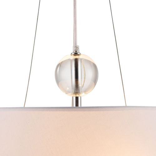 Lustra bucatarie moderna Maytoni Bergamo, alba, 3xE27 60W, H:47-140cm