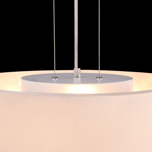 Lustra living moderna Maytoni Bergamo, crom lucios, 3xE27 60W + 3xG9 60W, H:30-150cm