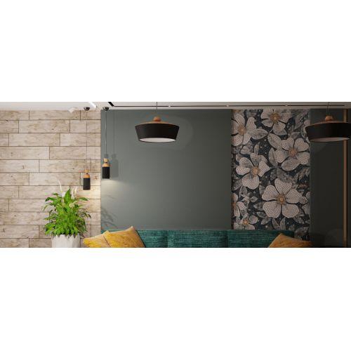 Lustra decorabila Maytoni Brava lampada, neagra, 5xE14 40W, H:27-151cm
