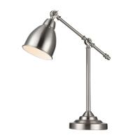 Lampa birou moderna Maytoni Domino, nichel mat, E27 40W