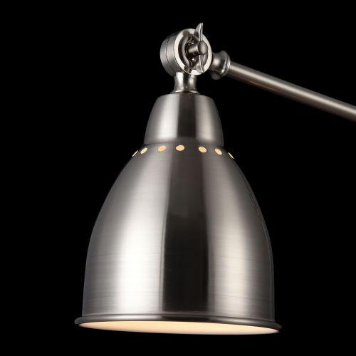 Lampadar reglabil modern Maytoni Domino, nichel mat, E27 40W