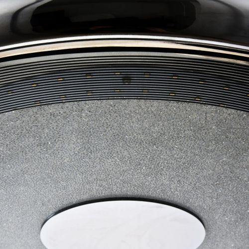 Lustra LED moderna Maytoni Peyton, nichel mat, LED 30W, H:25-120cm