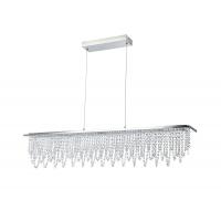 Suspensie LED moderna Maytoni Glacier, crom lucios, LED 30W, 2100 lumeni, H:31-171cm